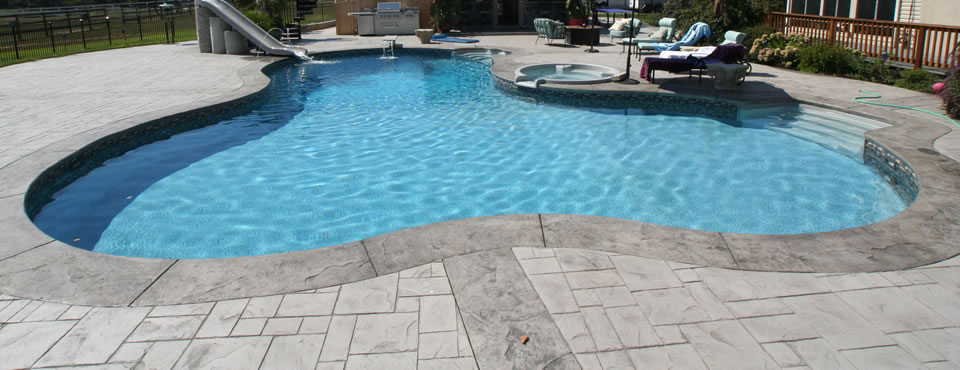 Gray Slate Pool Deck